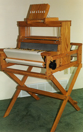 Table Loom on Buck Stand
